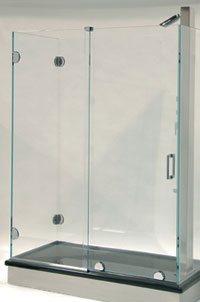 Essence Series Bottom Rolling Frameless Sliding Shower Door