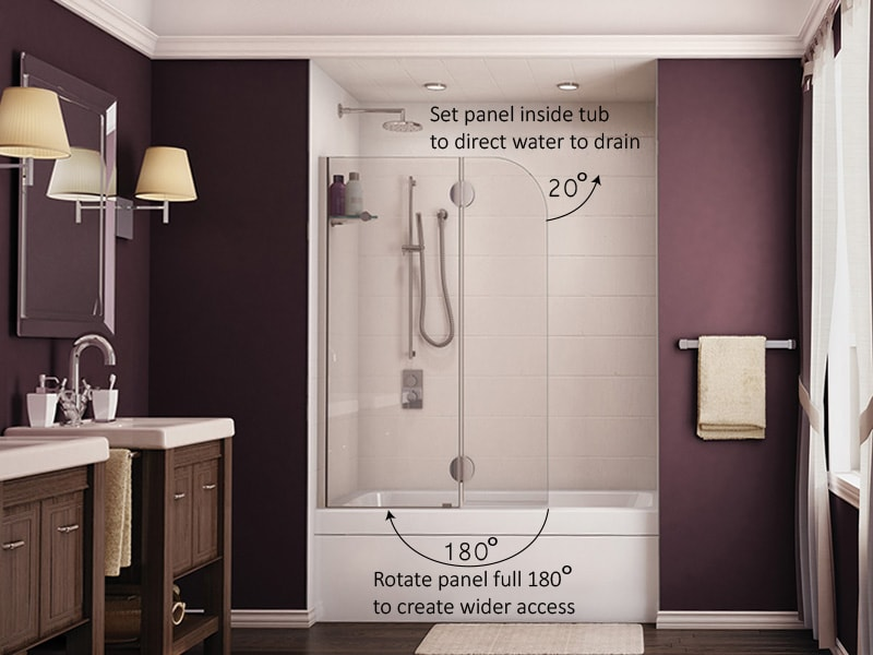 Chicago Glass Fleurco Evolution Shower Shields and Doors