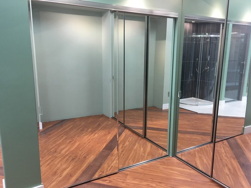 Mirrored Sliding Doors