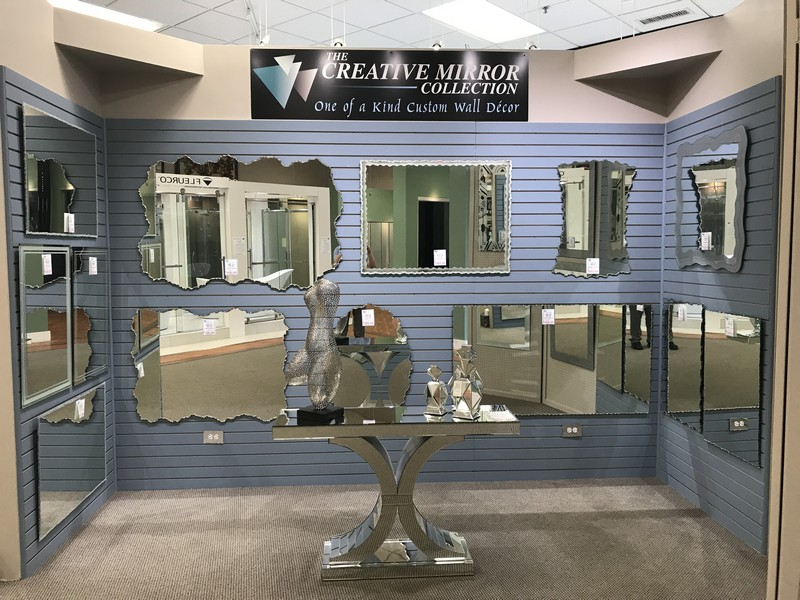 Sculpted Mirrors & Custom Wall Decor, all done in-house affordably