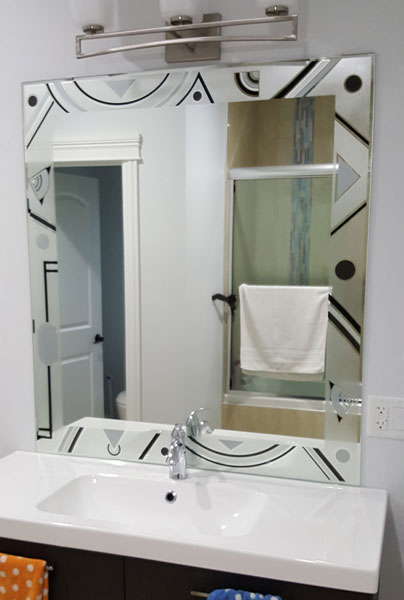 Chicago Glass Artistic Painted Custom Mirrors