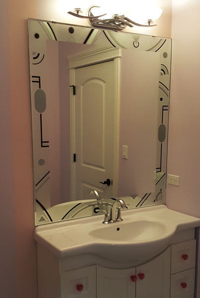 Artistic Painted Mirrors