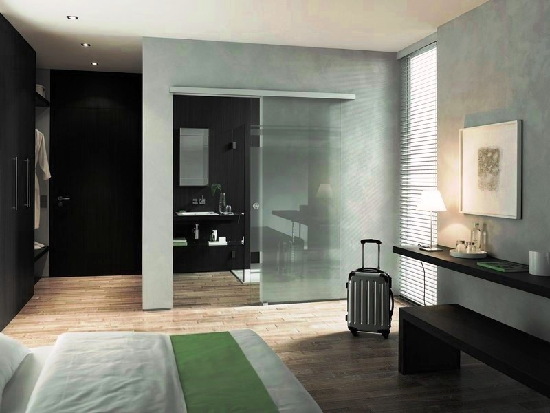 Sliding Glass Single Barn Doors