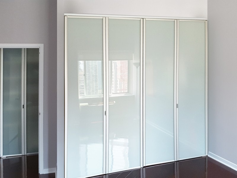 View Larger Image Sliding Gl Bifold Closet Doors