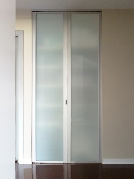 View Larger Image. Sliding Glass Bifold Closet Doors