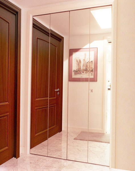 Bifold Closet Doors Creative Mirror Shower
