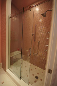 SERENITY Sliding Door for Shower Height