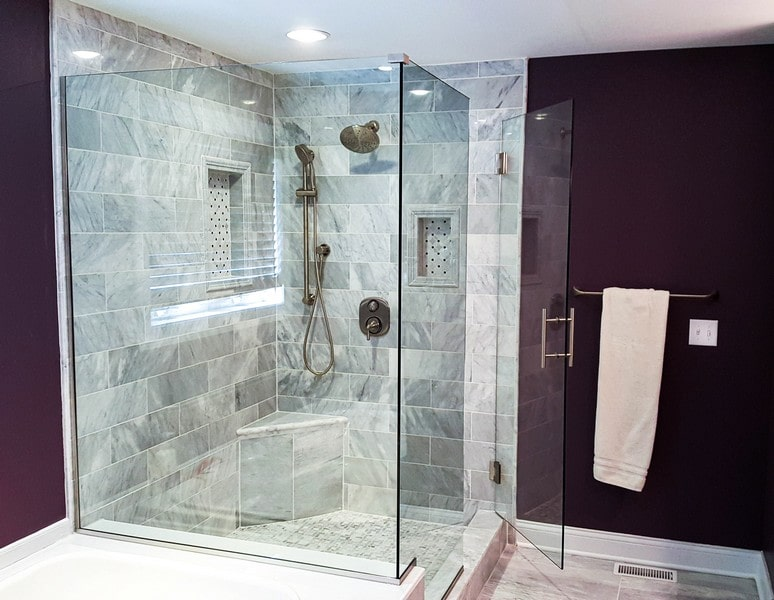Chicago Glass Frameless Shower Door Corner Enclosures