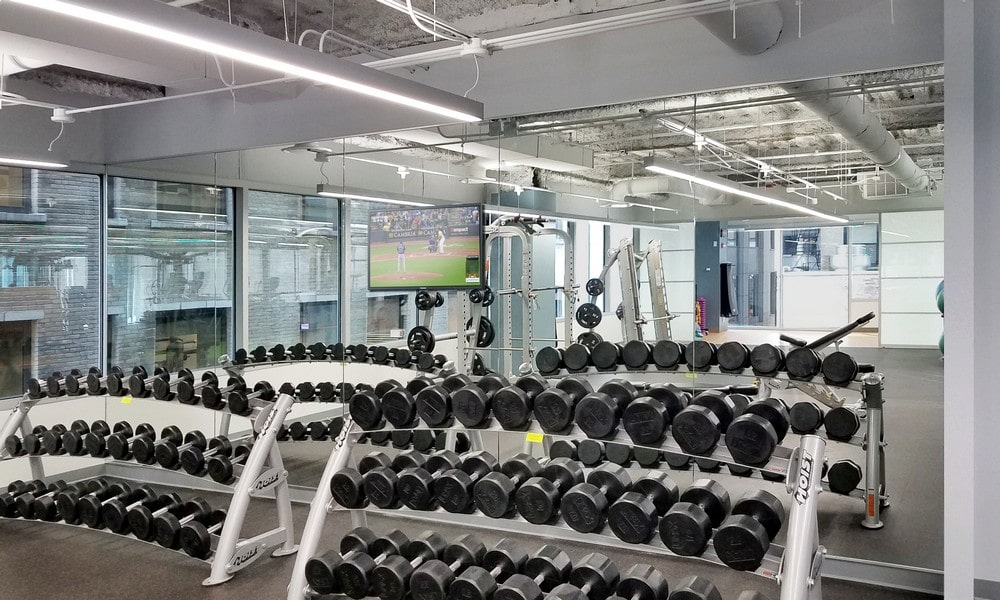 Chicago Fitness Center Glass Shower Doors and Mirrors