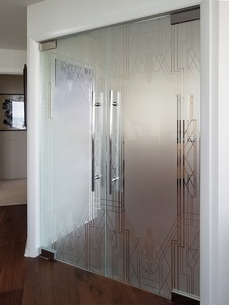Chicago Office Interior Glass Walls and Swing Doors