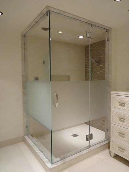 And shower enclosures with sandblasted windows and door glass - Glamorous 30 Etched Shower Doors Design Decoration Of