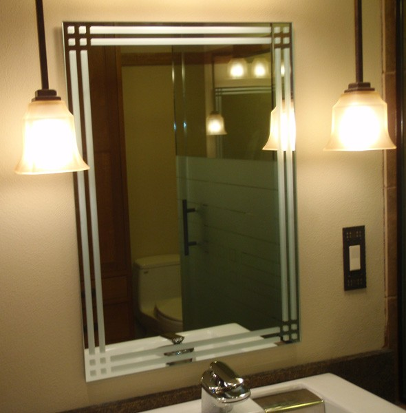 creative mirror and shower