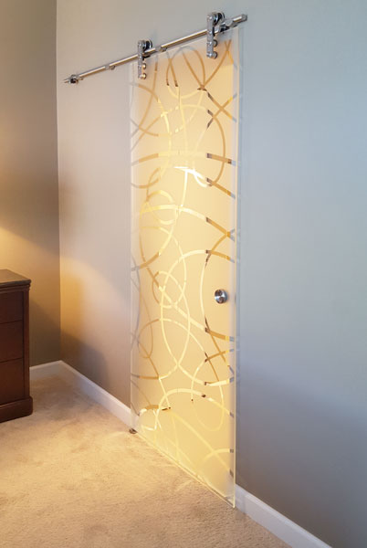 Etched Sliding Glass Doors