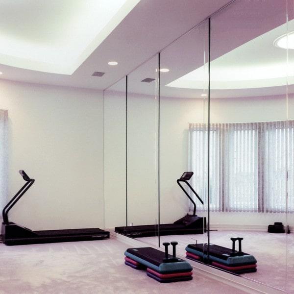 Custom exercise room mirrors creative mirror shower
