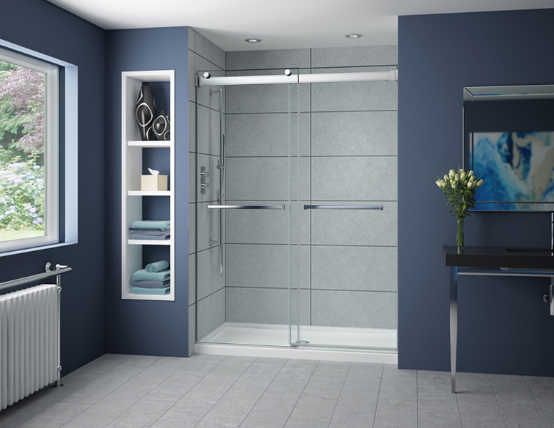 Fleurco Gemini Bypass Shower Doors Creative Mirror Amp Showers