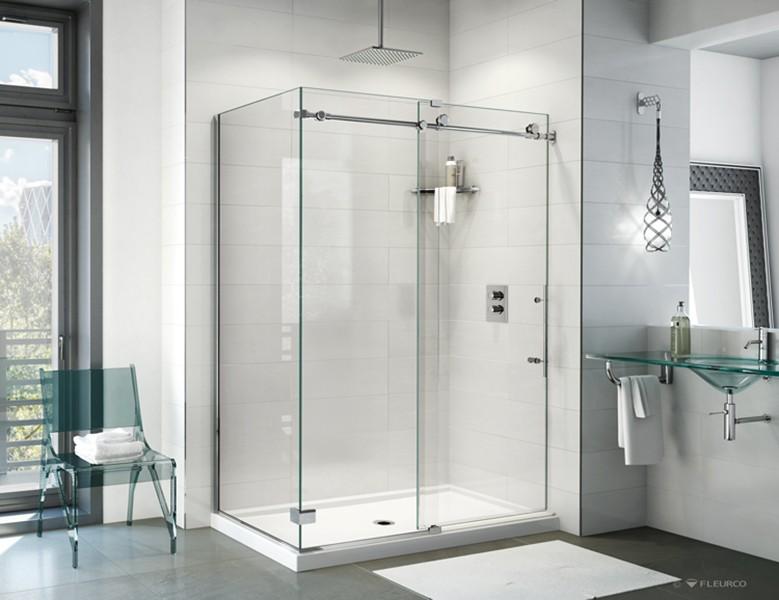 Fleurco K2 Frameless Sliding Showers Creative Mirror