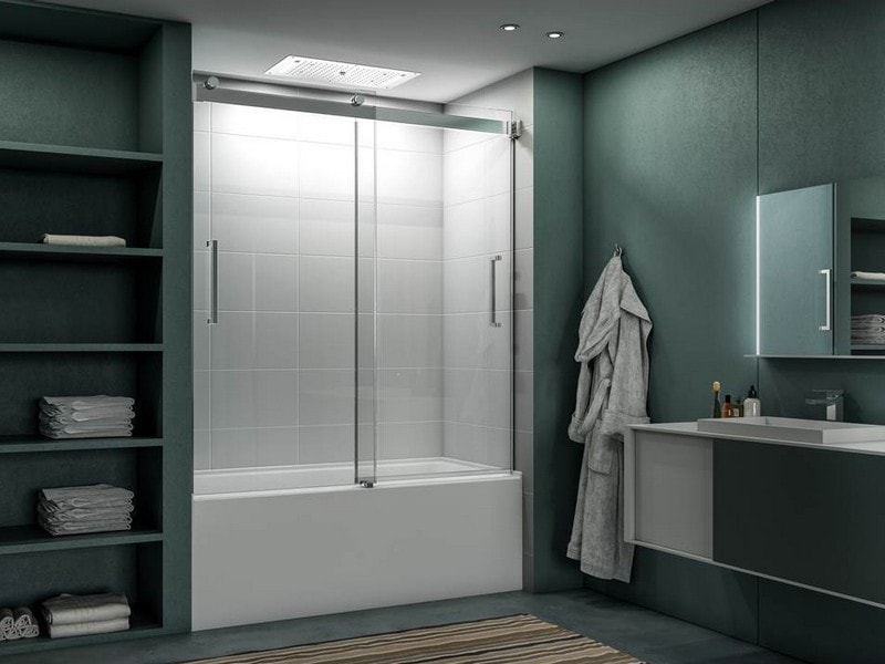 Chicago Glass Fleurco Mercury Bypass Sliding Shower Doors