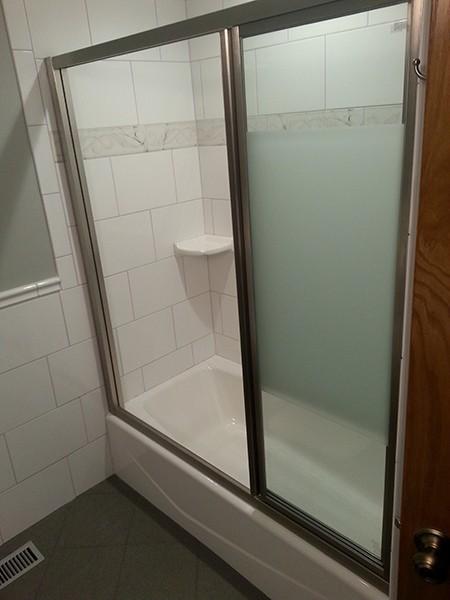 triple track shower doors creative mirror shower. Black Bedroom Furniture Sets. Home Design Ideas