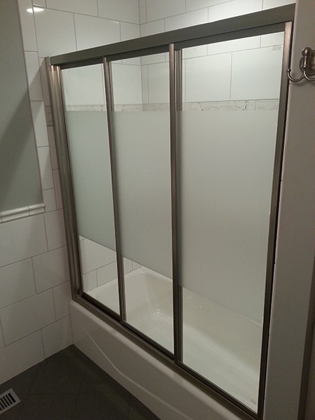 Triple Track Bypass Sliding Shower Doors