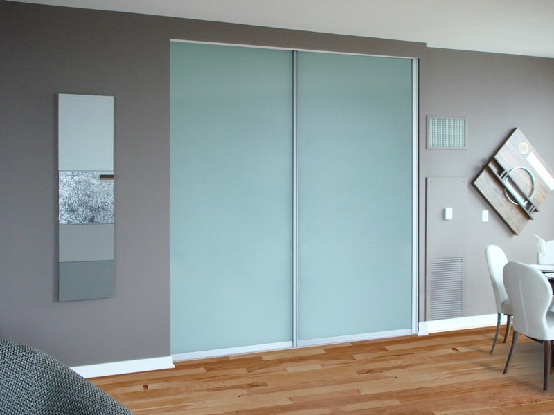 Painted Glass Closet Doors Creative Mirror Amp Shower