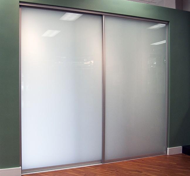 sliding bypass creative mirror shower. Black Bedroom Furniture Sets. Home Design Ideas