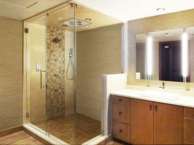 mirror tv enclosure corner enclosure creative mirror shower