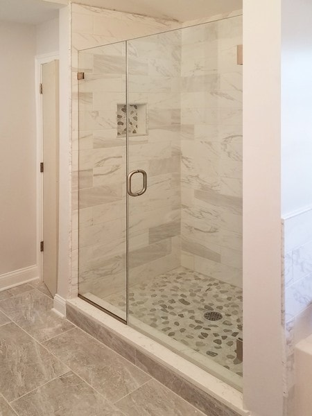 Door and Panel Frameless Shower Door