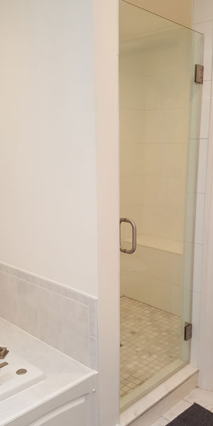 Single Swing Frameless Shower Doors Creative Mirror Amp Shower