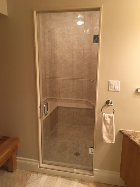 Single Swing Frameless Shower Doors Creative Mirror Amp Shower