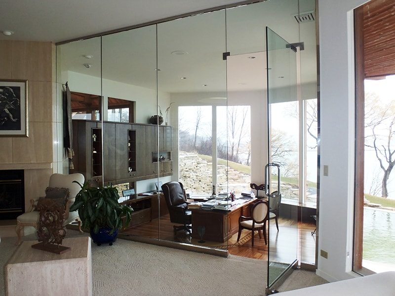 Interior Glass Walls Creative Mirror Shower