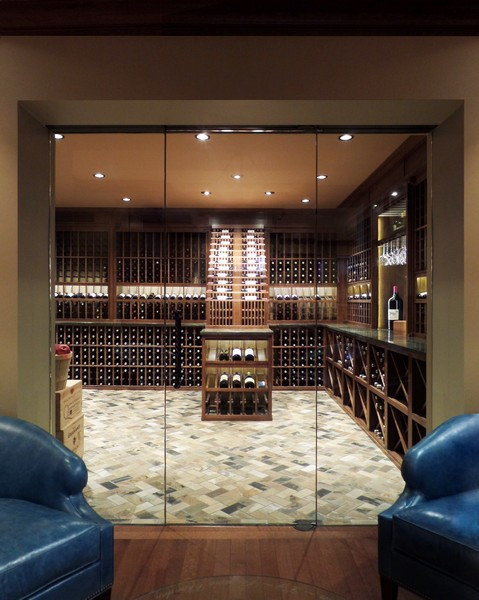 Architectural Glass Wine Cellars