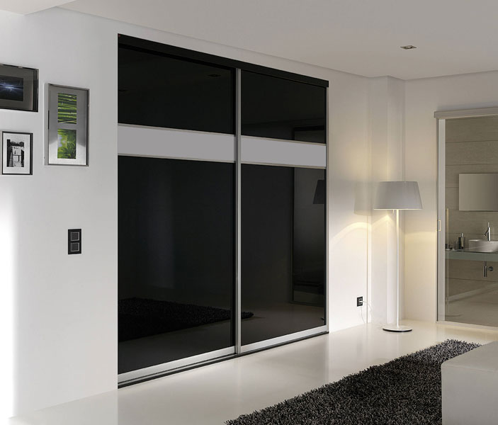 Back Painted Glass Closet Doors