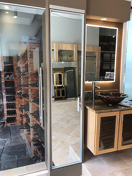 Chicago Glass Pivot Swing Door Raumplus Closet Systems