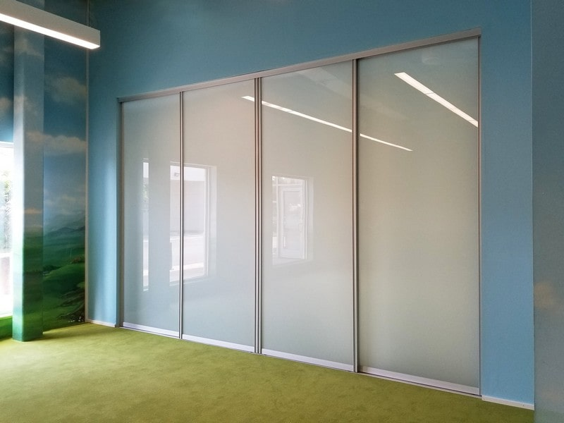 Chicago Glass Raumplus Sliding Barn Doors and Room Dividers