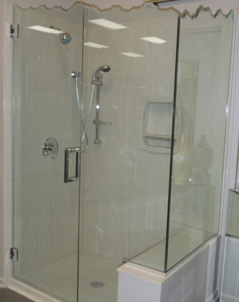 Sculpted and Decorative Shower Doors