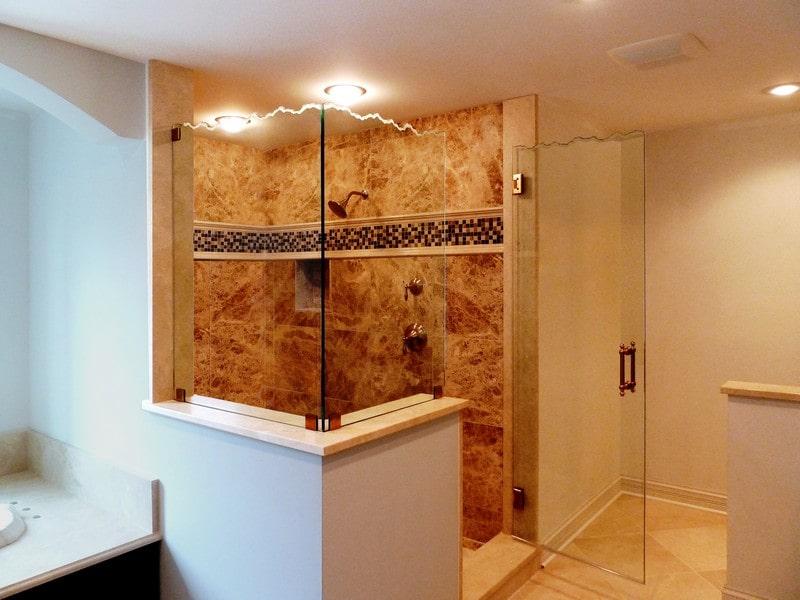 Decorative Bathroom Doors : Sculpted decorative shower doors creative mirror