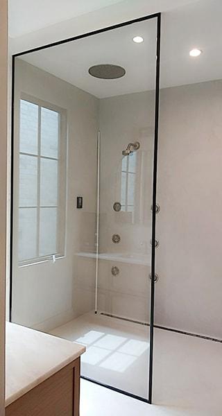 Shower Shields Creative Mirror, Glass Shower Door Shield