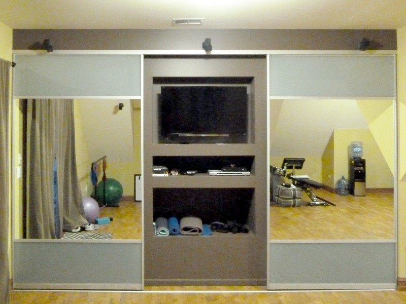 Frosted Sliding Glass Closet Doors