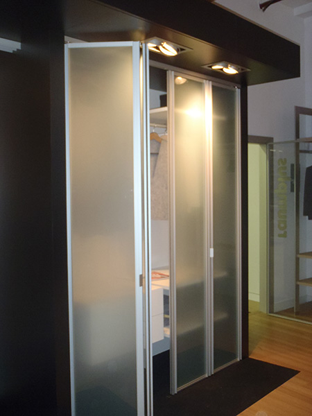 bifold closet doors creative mirror shower. Black Bedroom Furniture Sets. Home Design Ideas