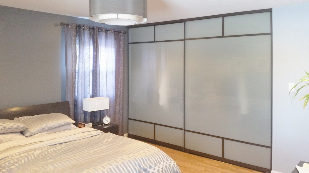 View Larger Image. Frosted Sliding Glass Closet Doors