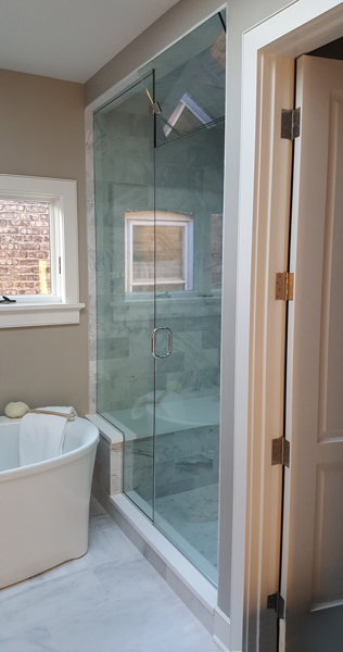 Steam Shower Frameless Shower Door