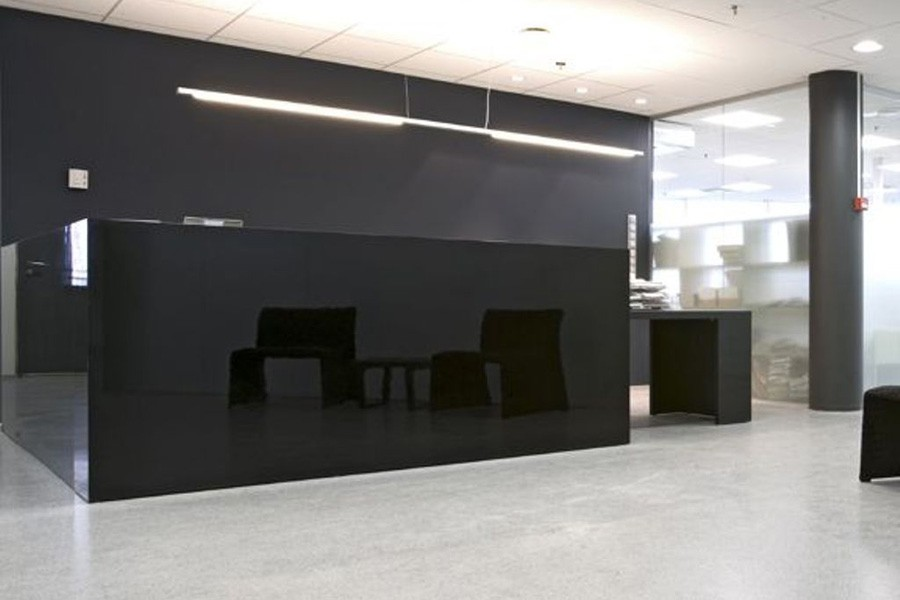 Back Painted Glass Commercial Interiors