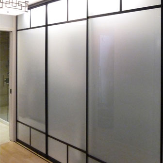 Sliding glass mirrored closet doors creative mirror shower frosted glass planetlyrics