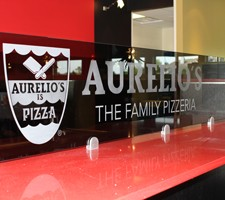Interior Glass & Etched Logo