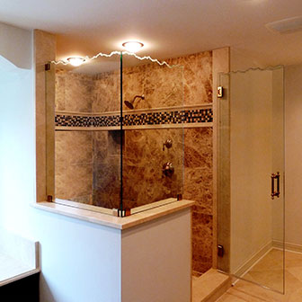 Sculpted & Decorative Shower Doors