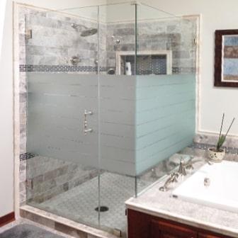 Etched Shower Doors etched & sandblasted shower doors | creative mirror & shower
