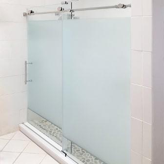 opaque single shower doors. Etched Sliding Opaque Single Shower Doors