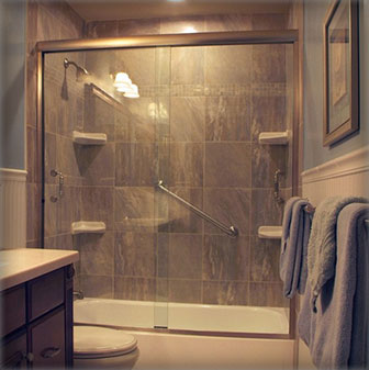 Frameless Bypass Shower Doors Creative Mirror Amp Shower