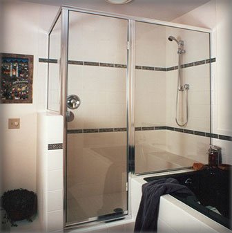 Semi-Frameless Shower Doors