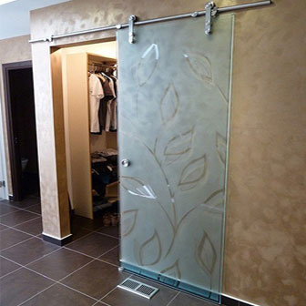 Etched Glass Closet Doors